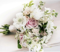 Hand tied wedding bouquets
