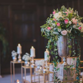 Aisle flowers Eastwell Manor