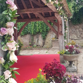 Outdoor wedding Eastwell Manor