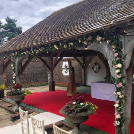 Gazebo flowers at Eastwell manor