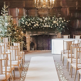 Winter wedding Eastwell Manor